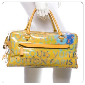Louis Vuitton Weekender Multi color/ lime green Travel Bag