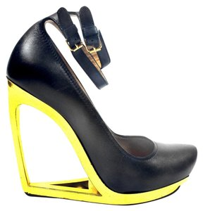 Lanvin Cut Out Heels Black Wedges