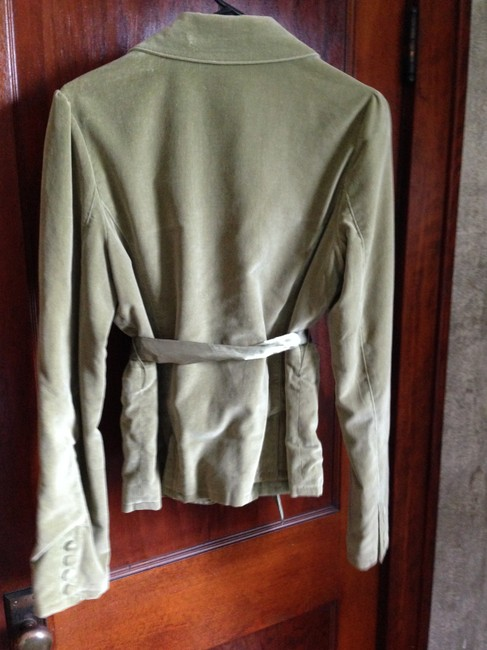 Coffee Shop Velveteen Olive green Blazer