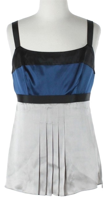 Preload https://item1.tradesy.com/images/ann-taylor-royal-blue-and-silver-silk-pleated-night-out-top-size-petite-2-xs-2972635-0-0.jpg?width=400&height=650