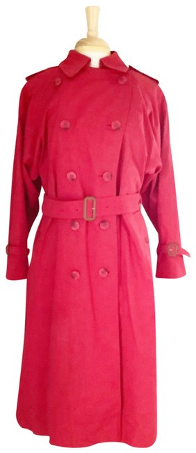 Item - Red XL Belted Womens Coat Size 14 (L)