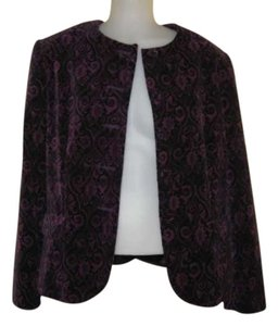 Karen Scott Purple & Black Jacket