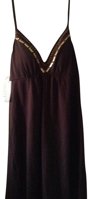 Preload https://item3.tradesy.com/images/windsor-brown-halter-style-with-beaded-bodice-above-knee-short-casual-dress-size-8-m-297312-0-0.jpg?width=400&height=650