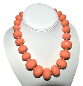 R.J. Graziano R. J. Graziano Resin Bead Necklace Coral Color 18