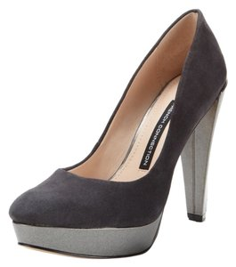 French Connection Dark Grey Suede Pumps