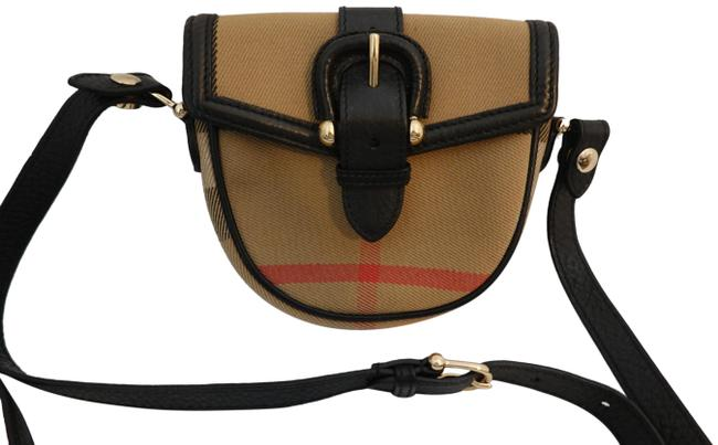 Item - Classic Check Small Multicolor Tan Black Red Canvas Leather Cross Body Bag