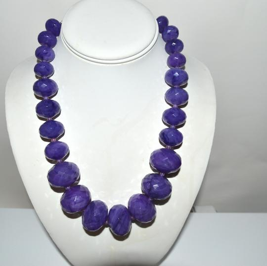 R.J. Graziano R. J. Graziano Resin Bead Necklace Amethyst Color 18 Inch W/Extender