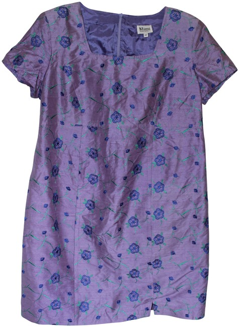 Item - Violet Silk Embroidered For Maternity Dress Size 10 (M, 30)