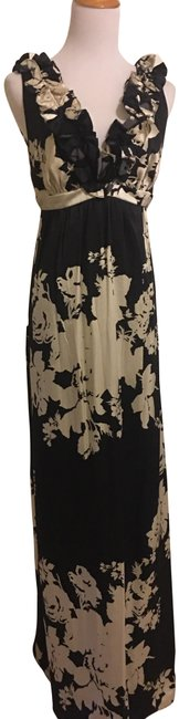 Item - Black and White Rn122000 Long Cocktail Dress Size 6 (S)