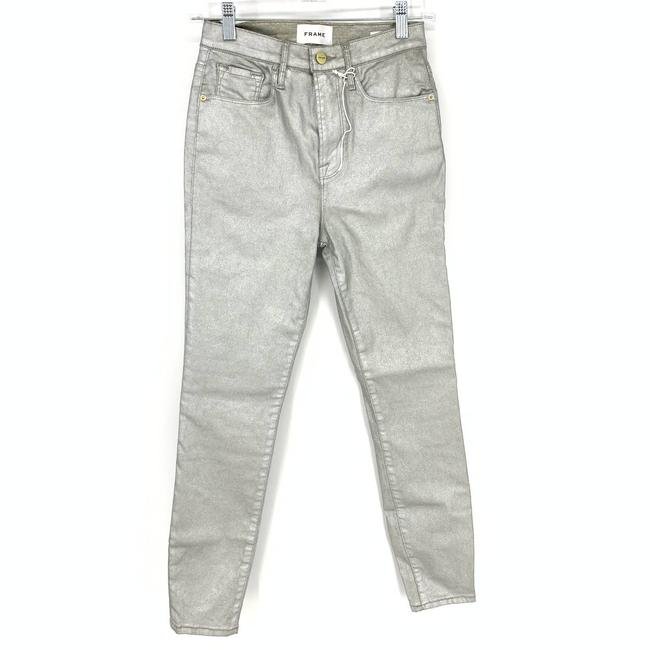 Item - Silver Coated Women's Ali High Rise Cigarette Cropped Skinny Jeans Size 26 (2, XS)