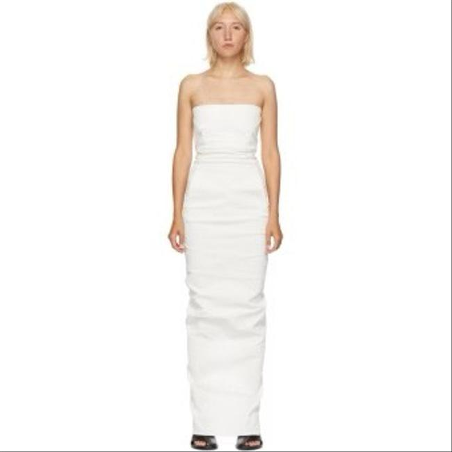 Item - White Bustier Gown Long Formal Dress Size 4 (S)