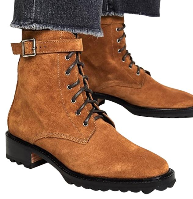Item - Brown Gold Dame Suede Combat Boots/Booties Size US 11 Regular (M, B)