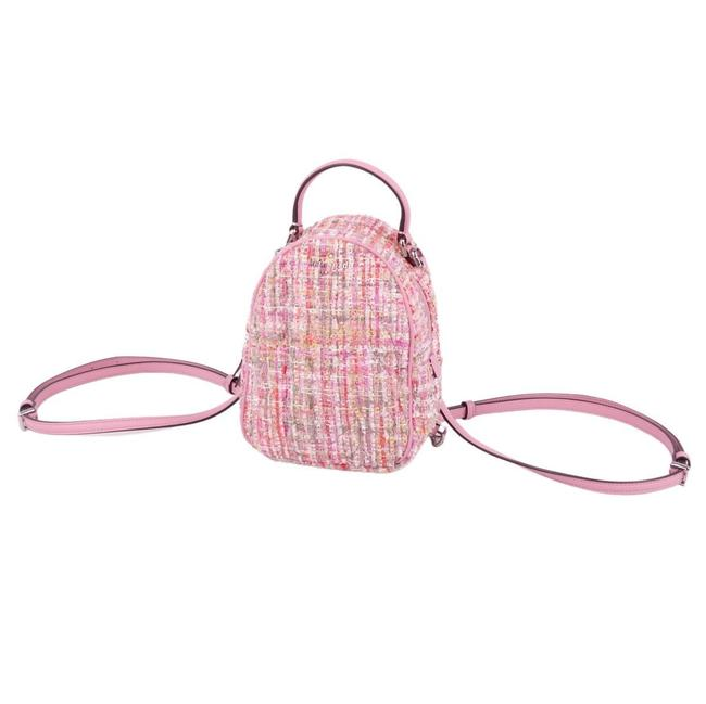Item - 3way Rucksack Convertible Quilt Pink Tweed / Leather Backpack