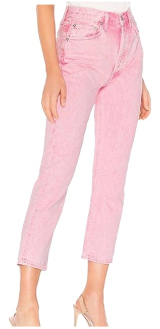 Item - Pink Rise Riley Crop - Straight Leg Jeans Size 30 (6, M)