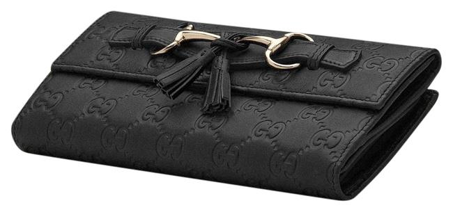 Item - ssima Continental Wallet Black Leather Clutch