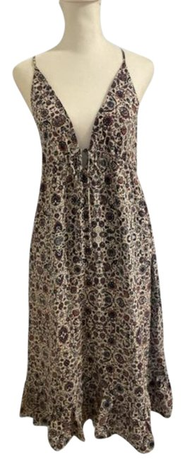 Item - Pink Blue Floral Mid-length Casual Maxi Dress Size 4 (S)