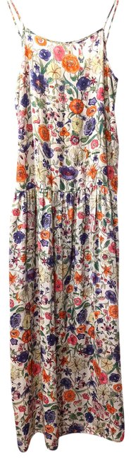 Item - White Jessica Hart Standard Floral Casual Maxi Dress Size 4 (S)