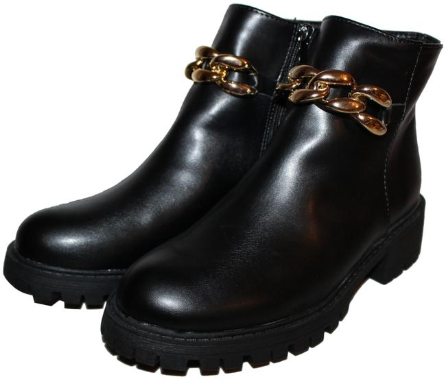 Item - Black Gold With Chain Boots/Booties Size US 8 Regular (M, B)