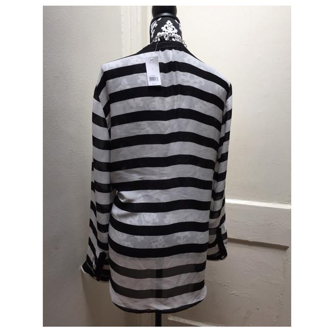 Banana Republic Top Black And White Stripe