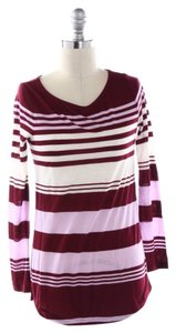 J.Crew T Shirt Red, Pink, White