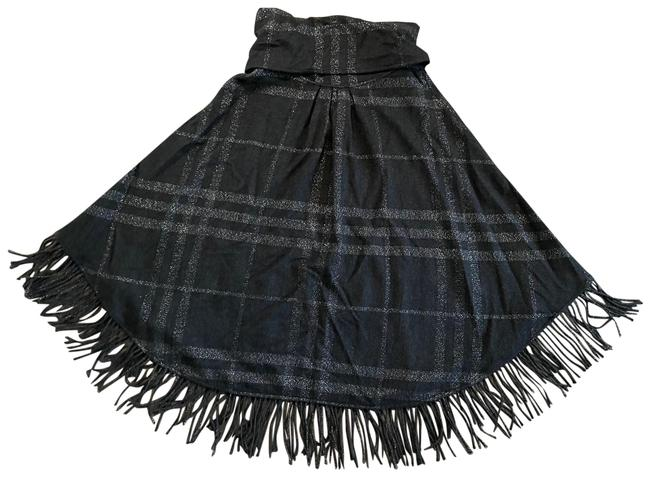 Item - Black/ Silver 0209 Poncho/Cape Size OS (one size)