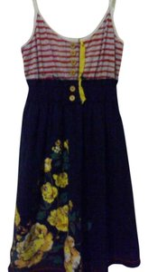Jolt short dress red yellow navy blue on Tradesy