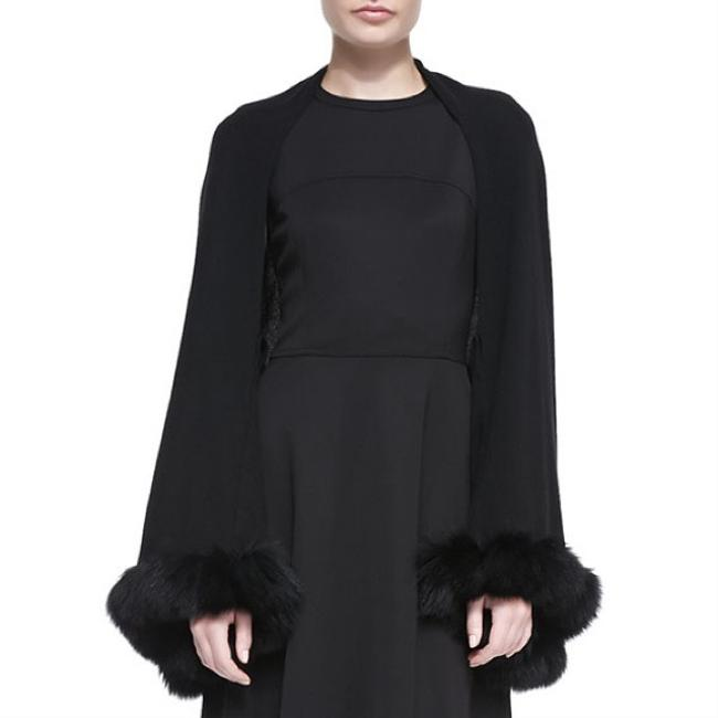 Item - Black Cashmere Convertible Shawl with Fox Fur Scarf/Wrap