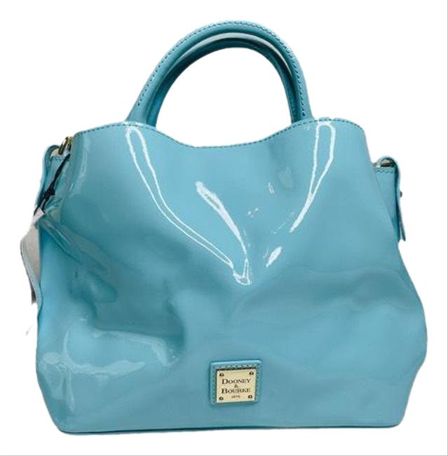 Item - Small Brenna New Blue Patent Leather Tote