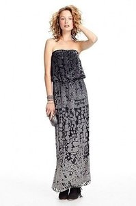 Gray Maxi Dress by Calypso St. Barth St Jayla Velvet Burnout Strapless Maxi