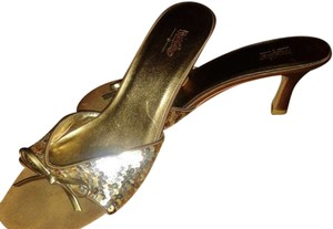 Mossimo gold Sandals