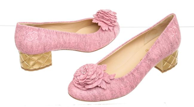 Item - Pink 507110 Camellia Gold Quilted Heels Formal Shoes Size EU 40 (Approx. US 10) Regular (M, B)