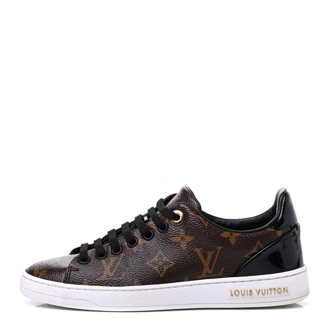 Item - Brown Front Row Lv Monogram Canvas Patent 37/6 Sneakers Size EU 37 (Approx. US 7) Regular (M, B)
