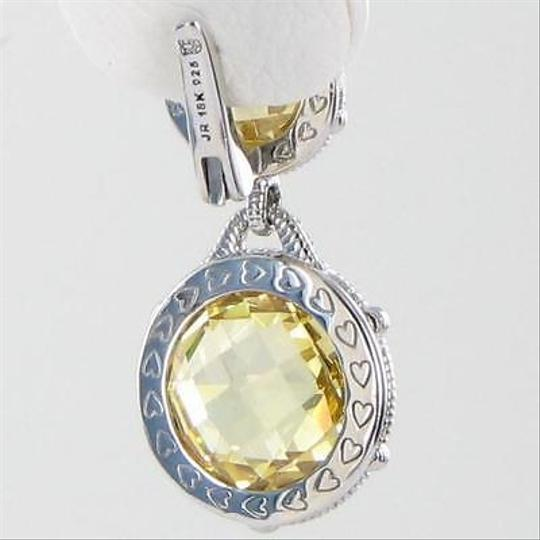 Judith Ripka Judith Ripka Double Eclipse Earrings Canary White Sapphire 925 Silver