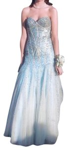Jovani Mermaid Sequin Strapless Gown Dress