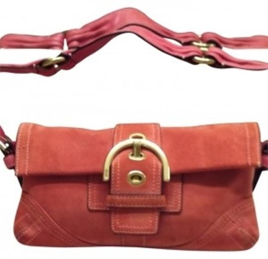 Preload https://item3.tradesy.com/images/coach-suede-deep-peach-shoulder-bag-29752-0-0.jpg?width=440&height=440