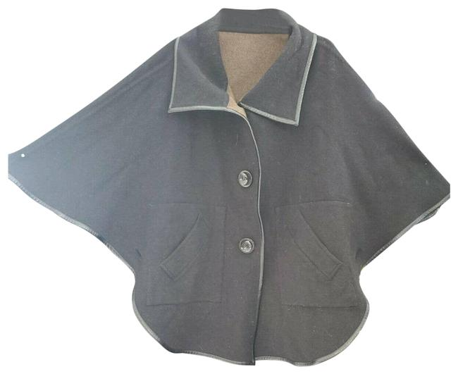Item - Brown Wool and Angora Coat Collar Small Reversible Jacket Size 6 (S)