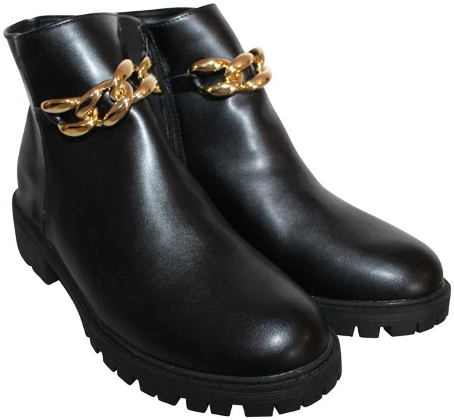 Item - Black Gold With Chain Boots/Booties Size US 7 Regular (M, B)