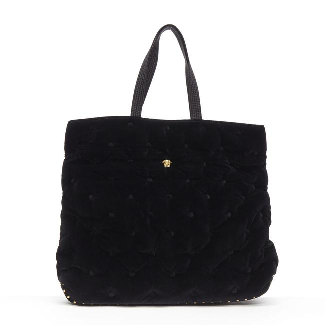 Item - New Runway Pillow Quilted Fold Over Black Velvet Tote