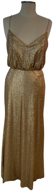 Item - Gold Sequin Style # 1624 Long Formal Dress Size 6 (S)
