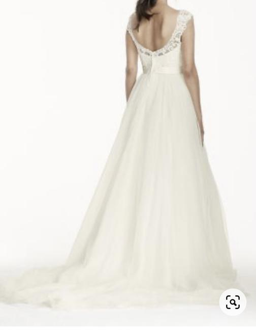 Item - Ivory Lace/Tulle As-is Petite With Formal Wedding Dress Size 6 (S)