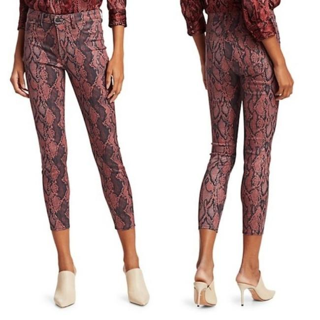 Item - Pink Coated Margot High Rise Python Skinny Jeans Size 27 (4, S)
