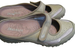 Skechers Sketchers Nwt Mary-jane Beige-Tan Mules