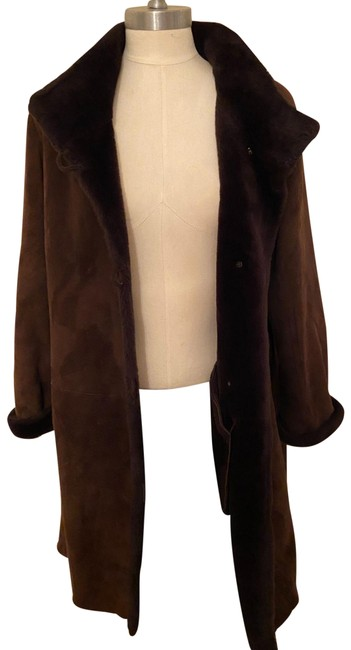Item - Brown Ladies Small Shearling Jacket Size 4 (S)