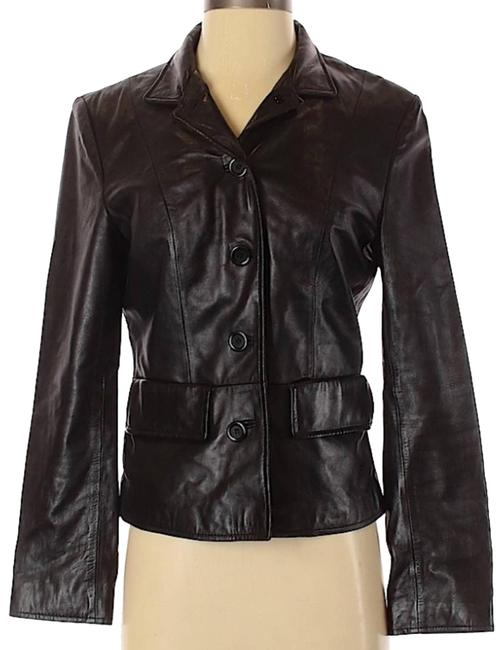 Item - Black New York Womens Leather Small Jacket Size 4 (S)