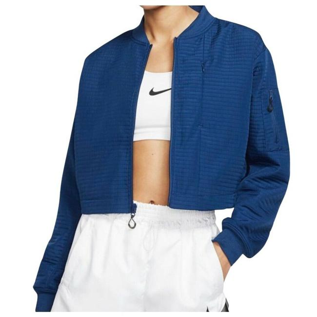 Item - Blue Sportswear Tech Pack City Ready Bomber Repel Bv4741-407 Activewear Outerwear Size 12 (L)