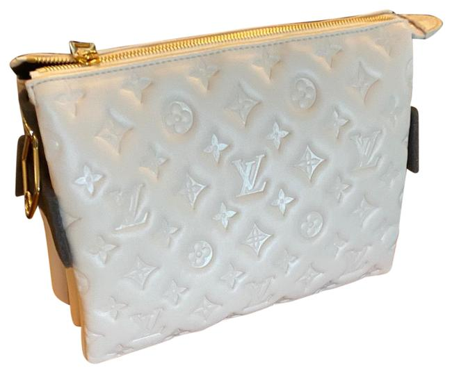 Item - Coussin Pm Cream/White Leather Cross Body Bag