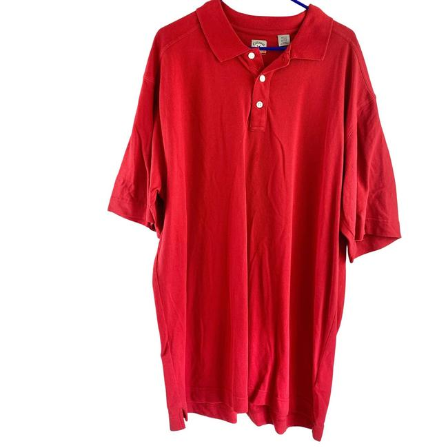 Item - Red Polo Golf Men Casual Solid Tee Shirt Size 4 XL