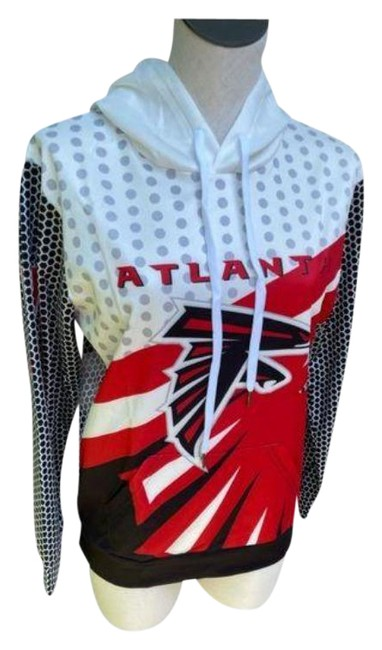 Item - Red Black Falcons Stretchy Sweatshirt/Hoodie Size 4 (S)