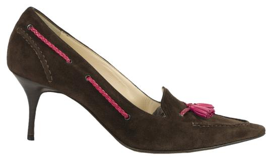 Cole Haan Brown/Fuschia Pumps