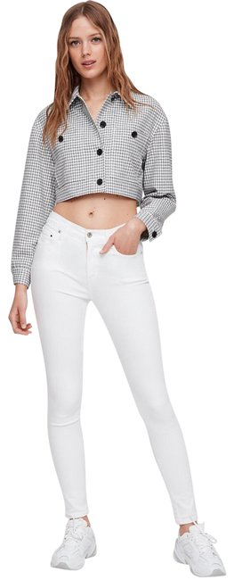 Item - White Rocket Crop High Rise Skinny Jeans Size 0 (XS, 25)